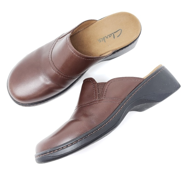 ba1780703c9f0 Clarks Clogs Mules Leather Comfort Shoes